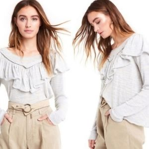 NWT Wildfox Lais Ruffle Anthropologie Cropped Top